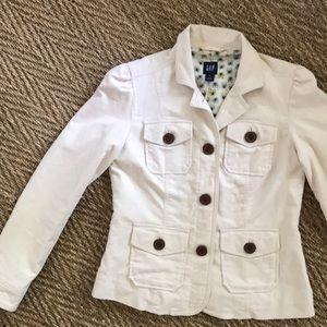 GAP women's cream blazer jacket, S